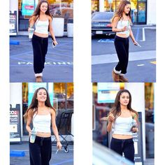 Ariana Grande looking cute and simple the other day with her Starbucks!