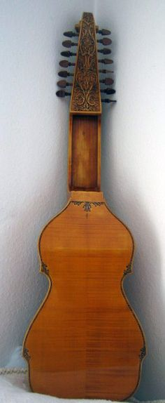 The baryton differs from the bass viol in having an additional set of wire strings. These perform two functions: they vibrate sympathetically with the bowed strings, enriching the tone, and they can also be plucked by the left thumb of the performer, creating a contrasting tonal quality. As can be seen in the illustration, the bowed strings are placed on the right, where they can be easily fingered by the player's left hand. The plucked strings are on the left; they were reachable by the…