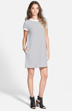rag & bone/JEAN 'The Tomboy' Short Sleeve Shift Dress available at #Nordstrom