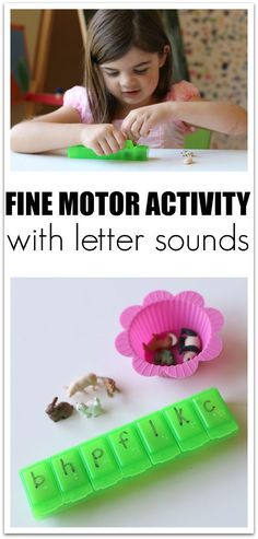 Fine Motor Activity with Letter Sounds