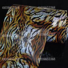 Hot Nail Art Transfer Craft foil Fashion DIY nail sticker Tip Full Cover Design Sexy Tiger Fur GL12