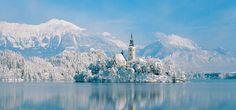 Lake Bled Slovenia Winter Wallpaper
