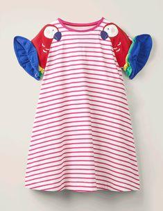 Jerseykleid mit Flatterärmeln Stop Motion Photography, Types Of Girls, Girls Dresses, Summer Dresses, Mini Boden, Flutter Sleeve, Suits, Business, Pretty