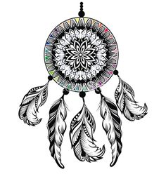 Dream catcher protection american indians vector by galina on VectorStock®