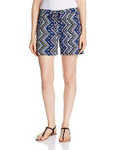 The Closet Label Women's Crepe Shorts (ACCIN-100389-S_Blue)
