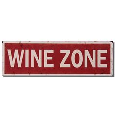 """Furnistar Decorative Wood Wall Hanging Sign Plaque """"Wine Zone"""" Red White Home Decor. Add a splash of color and style to the bedroom kitchen or front hall with this humorous wall sign. Bold white text reads Wine Zone on an antiqued red background with a white border featuring a rusting effect. This simple fun piece complements many decor styles and makes a wonderful housewarming wedding or anniversary gift for any wine lovers in the family"""
