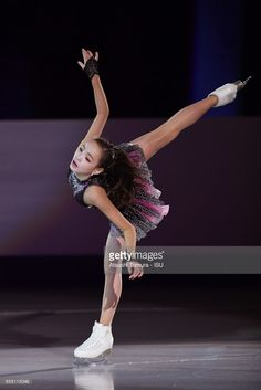 Eunsoo Lim of South Korea performs her routine in the exhibition on the day five of the World Junior Figure Skating Championships at Taipei Multipurpose Arena on March 19, 2017 in Taipei, Taiwan.
