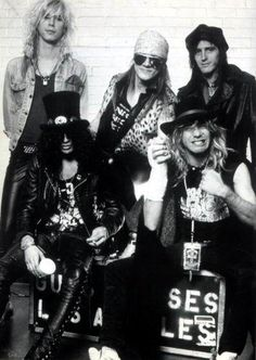 Guns N' Roses - I was soooo obsessed in middle school. I had the hugest crush on Slash too...such a weirdo haha.