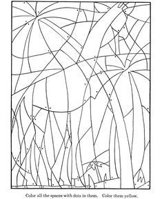 Hidden Picture Coloring Page | Wild Giraffe