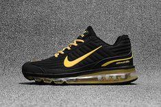 hot sales 88b9b a8ff3 Great Nike AIR MAX 360 KPU KPU Men Black Gold On Sale -   70.99