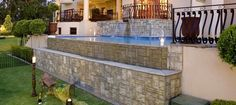 The Creative Stone Company - Creating Beautiful Spaces Wall Cladding, Flagstone, Garden Stones, Beautiful Space, Water Features, Garden Projects, Terrace, Mansions, House Styles