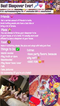 sleepover tips now i just need friends to do this - 13th Birthday Parties, Birthday Party For Teens, 14th Birthday, Slumber Parties, Summer Bday Party Ideas, Birthday Goals, Teen Sleepover, Fun Sleepover Ideas, Sleepover Activities