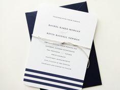 Rachel Nautical Wedding Invitation Sample / by mariechangdesigns