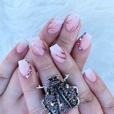 matte cherry blossom nails #cherryblossom #mattenails #ombrefrench