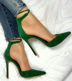 c4a1683a192  My  High Heels Amazing Casual High Heels Emerald Green Heels