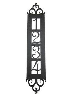 rustic wrought iron address numbers/plaques/letters/doorbells – Bushere & Son Iron Studio Inc.