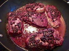 Blueberry pork chop
