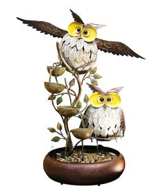This Tiered Owl Fountain is perfect! #zulilyfinds