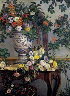Frédéric Bazille: Flowers, 1868.