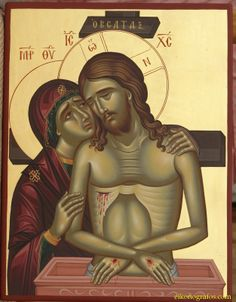 High quality hand-painted Orthodox icon of Jesus Christ (Do not weep for me, mother). BlessedMart offers Religious icons in old Byzantine, Greek, Russian and Catholic style. Byzantine Icons, Byzantine Art, Religious Icons, Religious Art, Pope Of Rome, Paint Icon, Religion, Christ The King, Blessed Virgin Mary