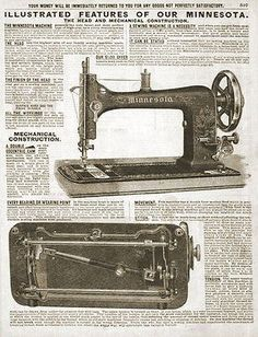 paperinkgraphics id: Minnesota Antique Sewing Machine 1914 Original Sears Catalog Ad ORIGINAL period Sears 1914 illustrated catalog Ad page, measures approximately x complete Ad with f Sewing Machine Repair, Sewing Machine Parts, Treadle Sewing Machines, Antique Sewing Machines, Minnesota, Sewing Labels, Sewing Machine Accessories, Heirloom Sewing, Sewing For Beginners