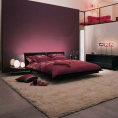 Bedroom Ideas:Red Accent Interior Design Bedroom Astonishing and Harmonious Zen Bedroom Decorating Ideas Home Bedroom, Burgundy Bedroom, Bedroom Interior, Home Decor, Zen Decor, Zen Bedroom, Bedroom Colors, Bedroom Color Schemes, Asian Home Decor