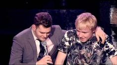 Damn.... I could not stop smiling.  Michael Bublé - Singing with a Fan Live,