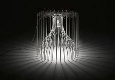 floor-standing-lamp-original-design-outdoor-metal by Brian Rasmussen modo luce Luminaire Design, Lamp Design, Lighting Design, Design Lab, Wire Pendant Light, Pendant Lighting, Lamp Light, Light Up, Contemporary Light Fixtures