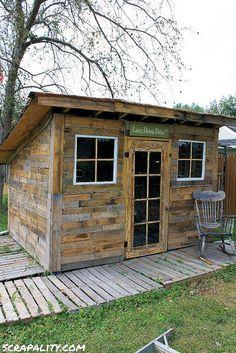 Projet de cabane de palettes pour le jardin 2