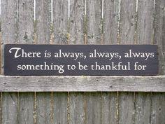 Being thankful ..