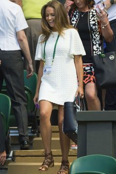 Kim Sears In Zara At The Wimbledon Tennis Championships, June 2015