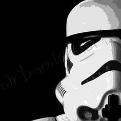 Stormtrooper canvas, star wars canvas, star wars movie print, stormtrooper wall art, movie wall art