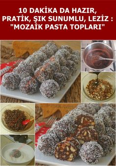 Bolas de mosaico – – – Yemek Tarifleri – Resimli ve Videolu Yemek Tarifleri Köstliche Desserts, Delicious Desserts, Dessert Recipes, Yummy Food, Food N, Food And Drink, Turkish Sweets, Party Food Platters, Recipes