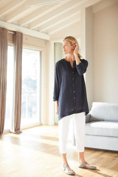 Linen outfit with a cotton feel (featuring J.Jil's Pure Jill Linen & Cotton Crinkled Shirt)