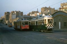 vintage everyday: Trams in Barcelona, 1956