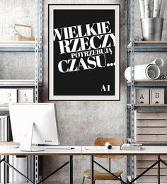 colour.me Wielkie rzeczy potrzebują czasu - inspirujące projekty plakatów - szablony do druku online. poster, A1, posterdesign, print online, big things take time!
