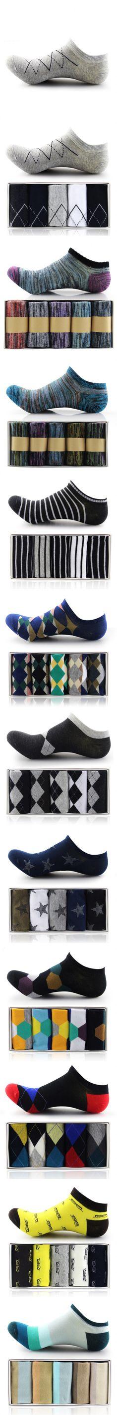 """Multi Colored Pop Sock Winter Cotton Striped Ankle Moisture """", """" Slip Colored…"""