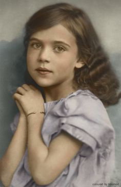 Future Queen of Denmark: Princess Ingrid Victoria Sofia Louise Margaretha of Sweden (1910-2000), daughter of Crown Prince Gustaf Adolf and Crown Princess Margaret. Mother of Queen Margrethe II of Denmark, Queen Anne-Marie of Greece and Princess Benedikte of Denmark.