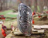 Celtic ring Celtic Spiral, Spiral Art, Celtic Art, Irish Celtic, Celtic Knots, Bronze Jewelry, Metal Clay Jewelry, Jewelry Box, Jewelry Ideas
