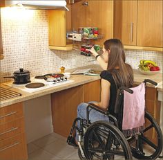Kitchen design for wheelchair user, they need it too :)