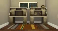 The Sims 4 | Brazen Lotus · Decluttered Antique Writer's Desk with slots | buy mode surfaces