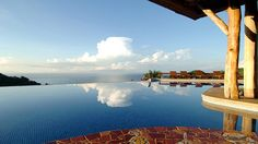 Relax in the infinity pool that looks out over the Pacific Ocean at the Hotel Punta Islita in Costa Rica