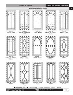 WalzCraft Mullion-Muntin Designs for Cabinet Doors by WalzCraft - issuu Leaded Glass Cabinets, Glass Cabinet Doors, Kitchen Cabinet Doors, Glass Door, Glass Art, China Cabinet, Update Kitchen Cabinets, Farmhouse Kitchen Cabinets, Diy Cabinets