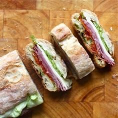Italian-style Pressed Sandwiches