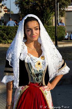 Sardinia,Italy, traditional costume