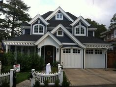 Craftsman styled curb appeal with garage arbor