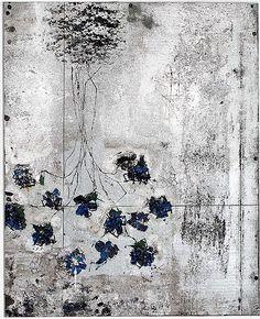 Hugo McCloud Untitled, 2012 Tar paper, aluminum asphalt exterior coating, and dry pigment