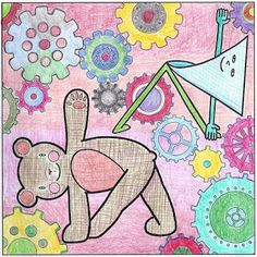 Yoga Teddy Bear Today's Twist: Revolved Triangle (Parivtta Trikonasana) yogateddybear.blogspot.com