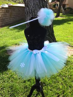 Queen Elsa Tutu From Frozen  Baby blue & White by SplendidlySavvy, $25.00