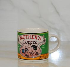 Vintage Westwood Yesteryear Coffee Cup, Archives The Coffees of Yesteryear Mother's Coffee, 1996, Always Reliable Full Roasted, Pure Flavor by winterparkcollect on Etsy